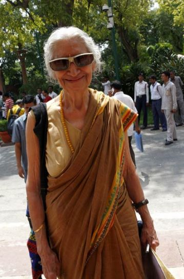 Delhi Chief Minister Sheila Dixit arrives to attend the Monsoon Season of Parliament