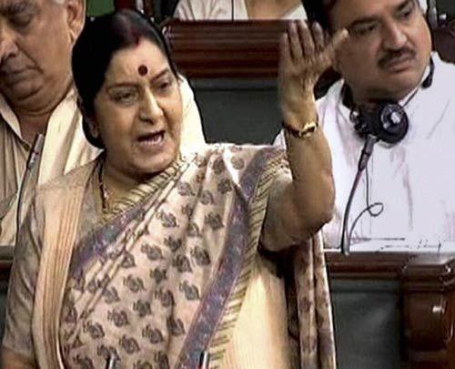 Leader of Opposition Sushma Swaraj
