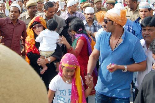Ajay Devgan with daughter Nyasa