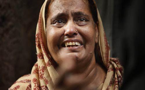 Relative of a blast victim