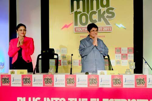 Kalli Purie and Kiran Bedi