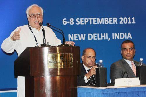 Kapil Sibal and Sunil Bharti Mittal