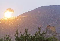 US forces attacking a location in Afghanistan.