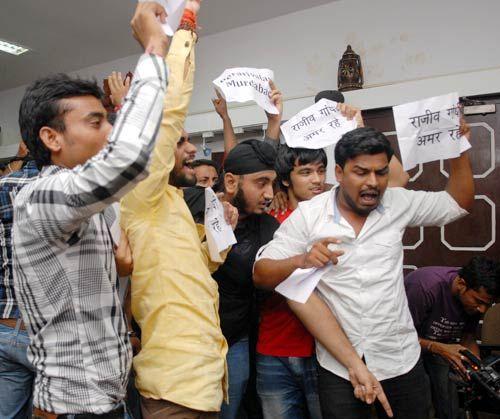 NSUI activists