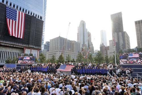 Visitors at National September 11 Memorial