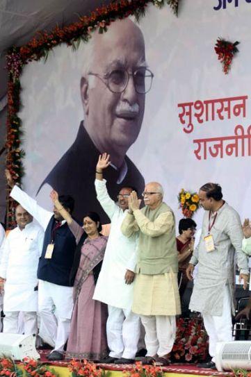 Ravi Shankar Prasad, Sushma Swaraj, L.K. Advani and Shivraj Singh Chauhan