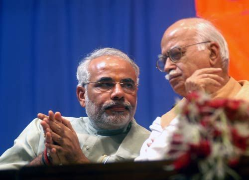 L.K Advani with Narendra Modi