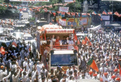 L.K Advani during his 1990 rath yatra