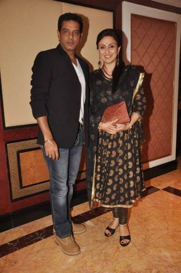 Anup Soni with wife, Juhi Babbar