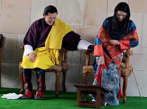 Bhutan King Jigme Khesar Namgyel Wangchuck and his wife Jetsun Pema.