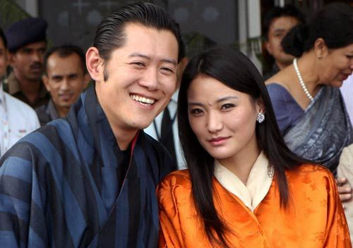King of Bhutan, Jigme Dorji Wangchuck and Queen Ashi Kesang Choden Wangchuck .