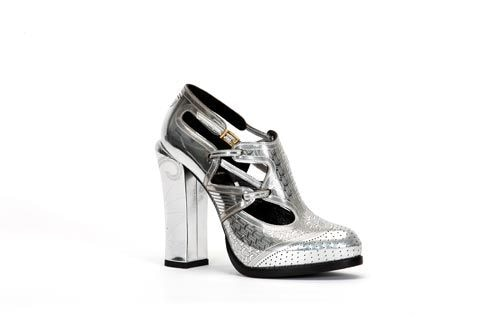 Fendi silver sporty pumps