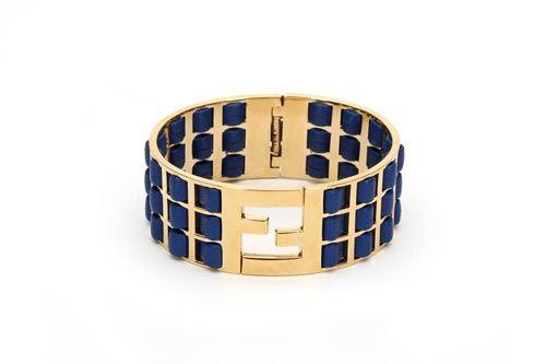 Blue logo cuff