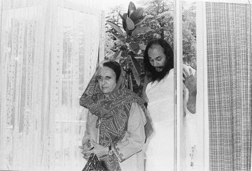 Indira Gandhi and Dhirendra Brahmachari