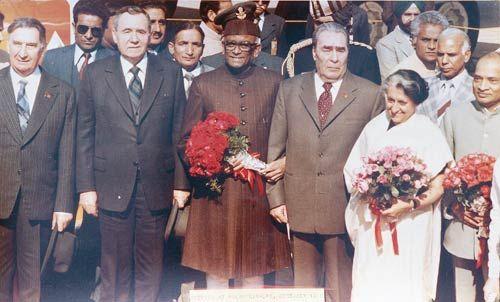 Indira Gandhi, N Sanjeeva Reddy, Leonid Brezhnev
