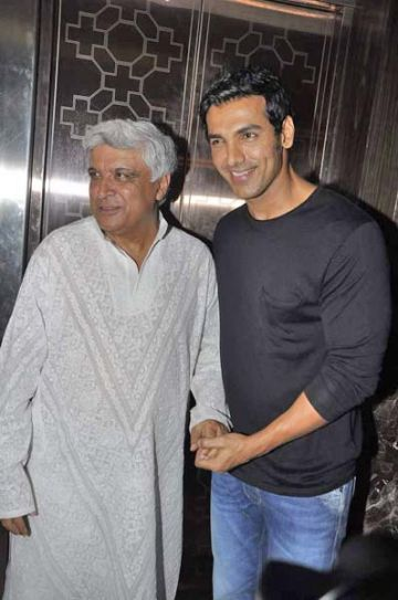 Javed Akhtar and John Abraham