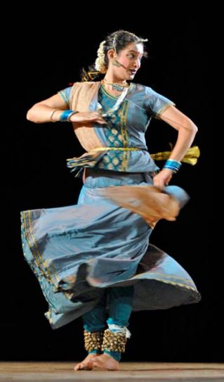 A Kathak dancer at Ravindra Manch