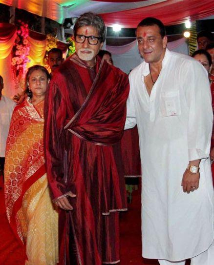 Jaya Bachchan, Amitabh Bachchan and Sanjay Dutt