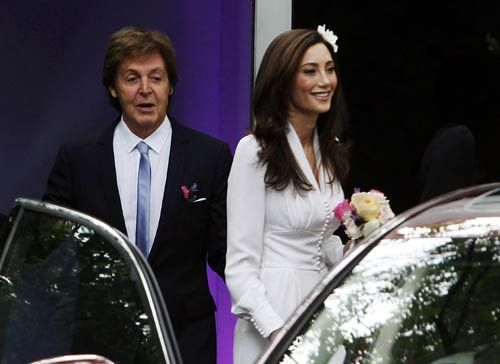 Former Beatle Paul McCartney and American heiress Nancy Shevell