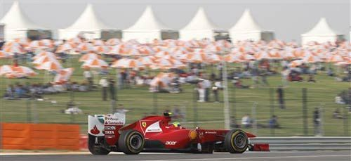 Formula One practice session at Buddh International Circuit in Noida