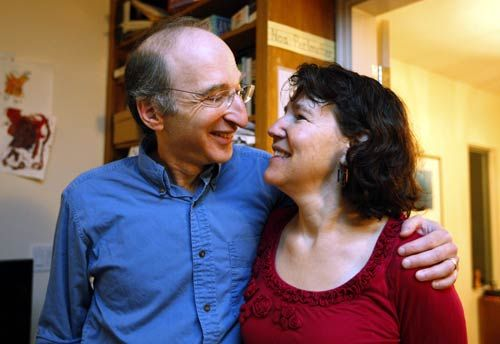 Saul Perlmutter with wife Laura Nelson
