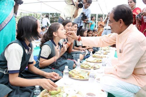 Shivraj Singh Chouhan during the launch of 'Beti Bachao Abhiyan' in Bhopal