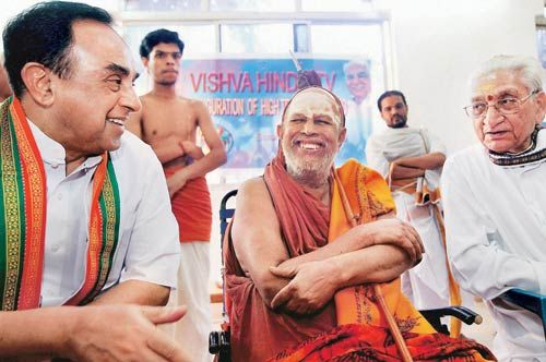 Subramaniam Swamy with Kanchi Shankaracharya