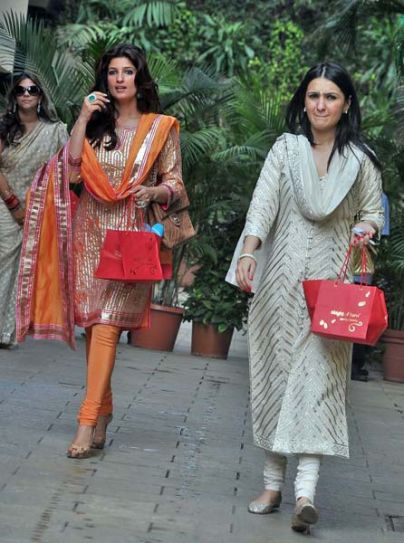 Twinkle Khanna with Anu Dewan