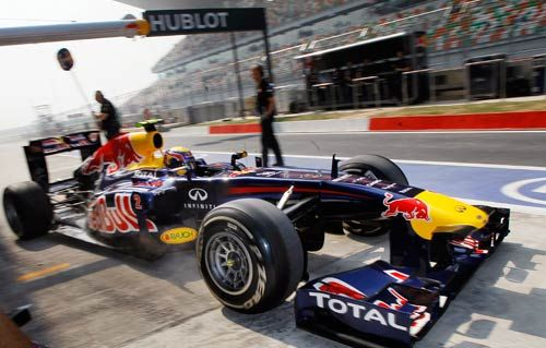 Red Bull driver Mark Webber