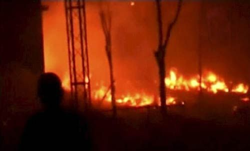 Fire at a community centre in East Delhi