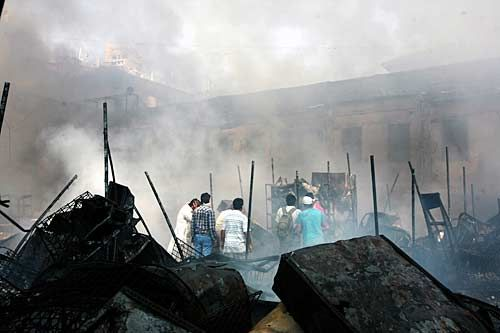 Fire at Manish market