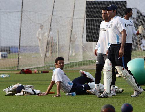 MS Dhoni, Rahul Dravid, VVS Laxman