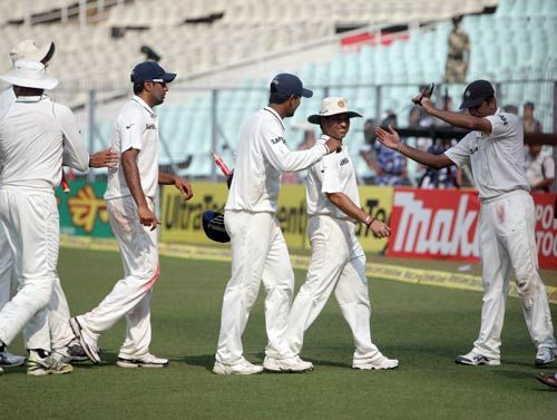Pragyan Ojha with Team India