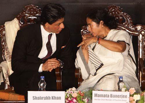 Shah Rukh Khan and Mamata Banerjee