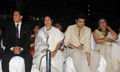Shah Rukh Khan, Mamata Banerjee and Prasenjit