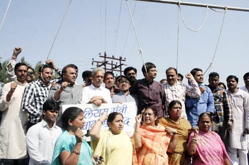 BJP workers protest against petrol price hike