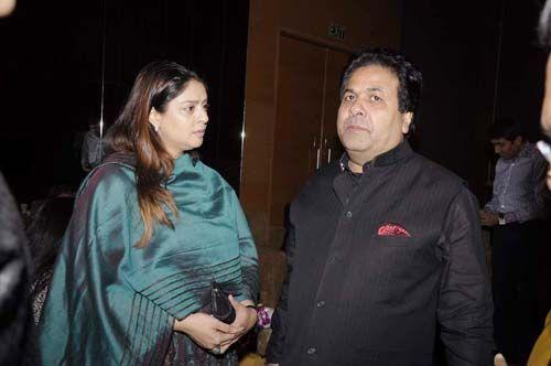 Nagma with Rajeev Shukla