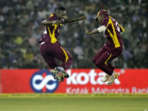 Andre Russell (left) and Darren Bravo
