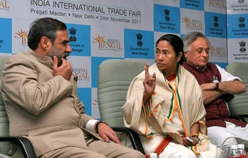 Anand Sharma, Mamata Banerjee and Jairam Ramesh
