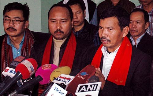 Leaders of Karbi militant outfit United People Democratic Solidarity.