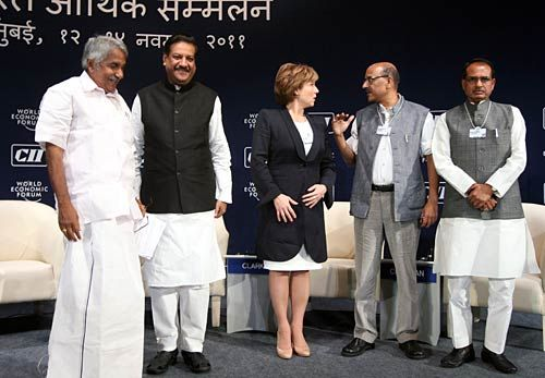 Prithviraj Chavan, Oommen Chandy, Christy Clark and Shivraj Singh Chouhan