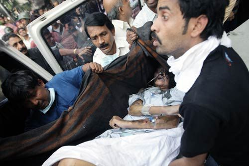 At least 89 people were killed and many, including patients, were feared trapped as a devastating fire swept through Kolkata's AMRI hospital early on Friday, December 9, 2011.