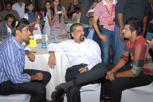 Suresh Raina, R. Ashwin and Kris Srikkanth
