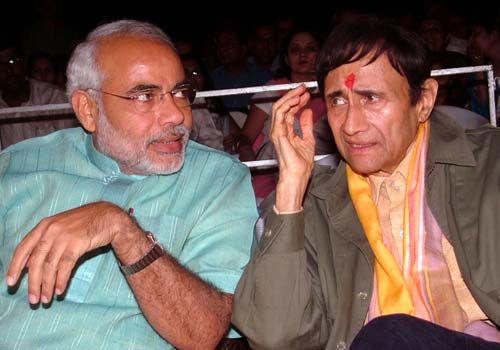 Dev Anand with Narendra Modi