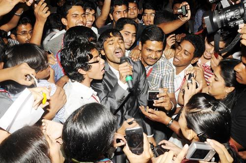 Dhanush with his fans