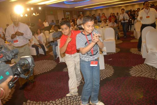 Young fans of Dhanush at India Today Mind Rocks Youth Summit 2011 in Chennai