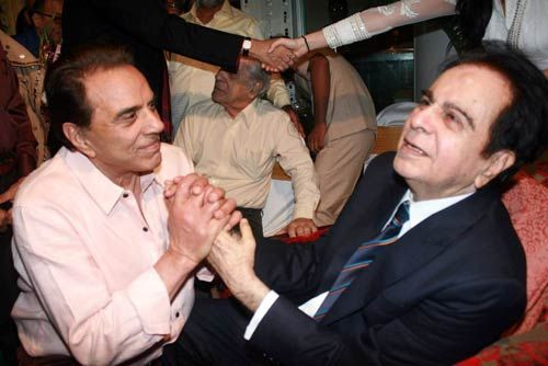 Dharmendra and Dilip Kumar