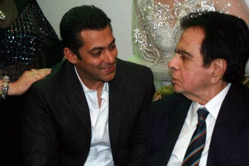 Salman Khan and Dilip Kumar