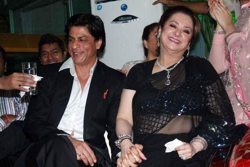 Saira Banu and Shah Rukh Khan