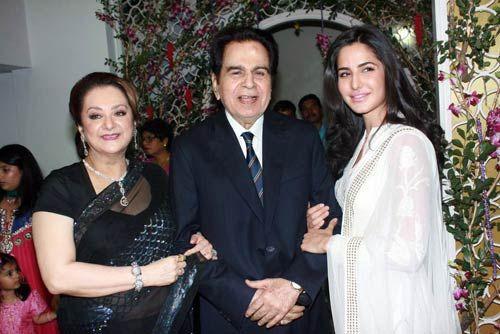 Dilip Kumar, Saira Banu and Katrina Kaif.